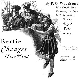 Bertie Changes His Mind - 1922 Cosmopolitan illustration by T. D. Skidmore
