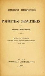 Alphonse Bertillon: Identification anthropométrique