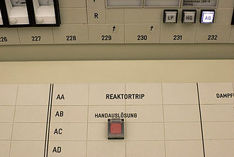 Politics of Switzerland - The emergency switch-off button of the Beznau Nuclear Power Plant. In 2011, the federal authorities decided to gradually phase out nuclear power in Switzerland.