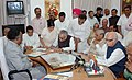 Bhairon Singh Shekhawat filing his nomination papers for the Presidential Election in the presence of the former Prime Minister, Shri Atal Bihari Vajpayee along with other senior NDA leaders in New Delhi on June 25, 2007.jpg
