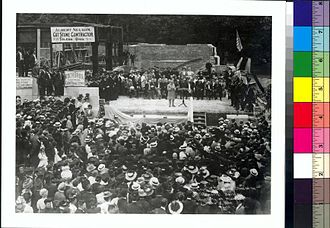 University of Michigan Museum of Art - Judge Grant laying the cornerstone of Alumni Memorial Hall, June, 1908.