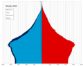 Bhutan single age population pyramid 2020.png