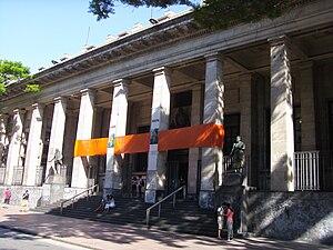 Biblioteca Nacional de Uruguay - Front of the National Library of Uruguay.