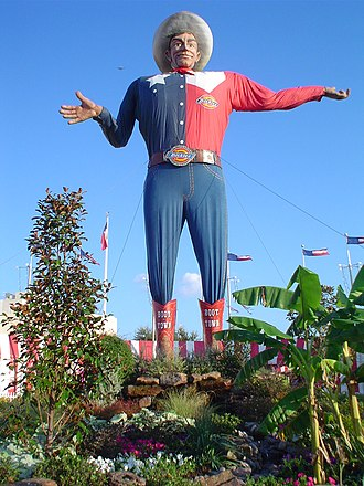 Culture of Texas - Big Tex, mascot of the State Fair of Texas since 1952