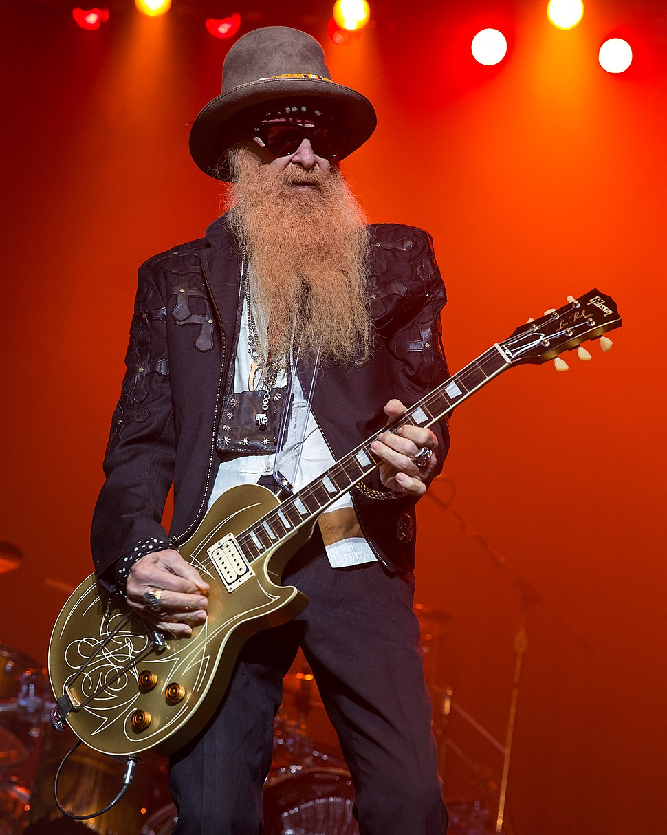 Billy Gibbons of ZZ Top performing in San Antonio, Texas 2015