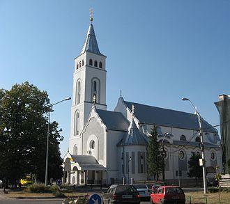 "Assumption of Mary Cathedral, Baia Mare - Image: Biserica "" Adormirea Maicii Domnului "" Baia Mare"