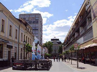 Bjelovar City in Bjelovar-Bilogora, Croatia