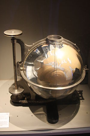 Carl Anton Bjerknes - Scientific research model of the earth by Carl Anton Bjerknes. Technical Museum, Oslo.