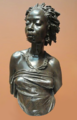 Black African woman art statue bust.png