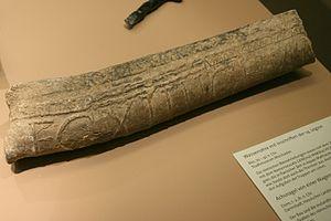 Roman lead pipe inscription - Lead pipe stamp of the Legio XIV Gemina