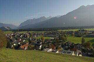 Bludesch Place in Vorarlberg, Austria