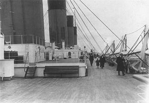 Second and Third-class facilities on the RMS Titanic - 2nd-Class section of the Boat Deck on Titanic