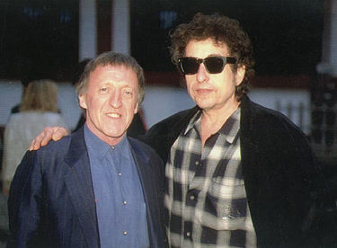 Paddy Moloney pictured with Bob Dylan, who is a fan of the band's work. Bob Dylan+Paddy Moloney.jpg