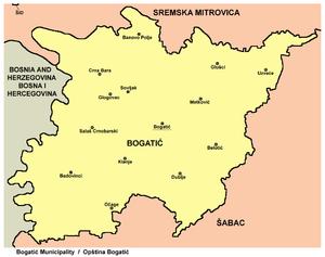bogatic srbija mapa Opština Bogatić   Wikipedia bogatic srbija mapa