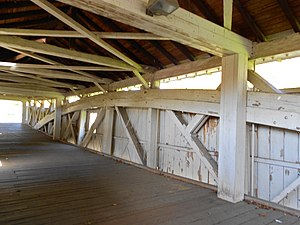 Bogert Covered Bridge - Image: Bogert Covered Bridge interior