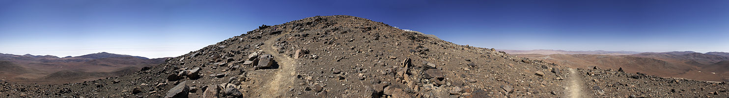 Panorama of landscape around Paranal Observatory.