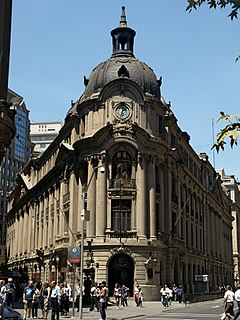 Stock exchange located in Santiago, Chile