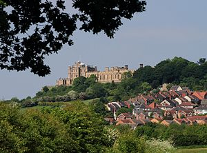 Bolsover - Image: Bolsover Castle from Stockley Trail