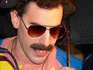 Sacha Baron Cohen as Borat at the premiere of ...