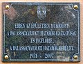 Border guards plaque (Balassagyarmat Bajcsy-Zsilinszky u 18).jpg
