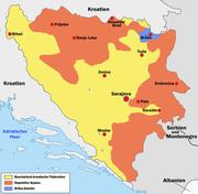 Politische Gliederung von Bosnien und Herzegowina