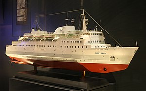 Silja Line - A model of MS Botnia in Siljavarustamo livery.