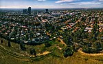 Box Hill Aerial Panorama. Taken from Surrey Park. April 2018.jpg