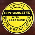Boycott - Contaminated with apartheid - South African goods.jpg