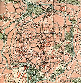 Bombing of Braunschweig (October 1944) - map of Braunschweig city centre