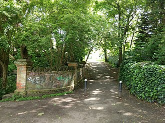 Shirebourne brook - Image: Bridge over the Shirebourne at Victoria Recreation Ground looking south