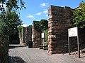 Bridge piers - remains of railway bridge at Fiveways - geograph.org.uk - 514084.jpg