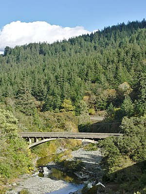 Bridgeville, California - Old Bridge over the Van Duzen River