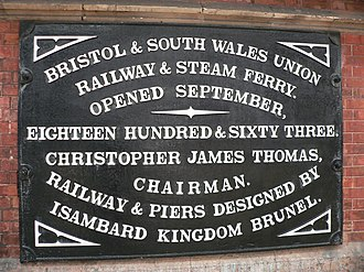 Bristol and South Wales Union Railway - A commemorative plaque at Bristol Temple Meads.