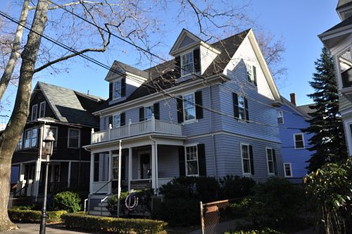Kennedy's birthplace in Brookline, Massachusetts BrooklineMA JFKHouse.jpg