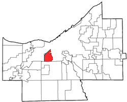 Location of Brooklyn in Cuyahoga County