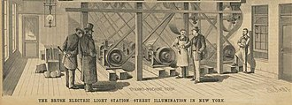 Direct current - Image: Brush central power station dynamos New York 1881