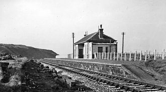 Buckie - Remains of Buckpool station in 1961