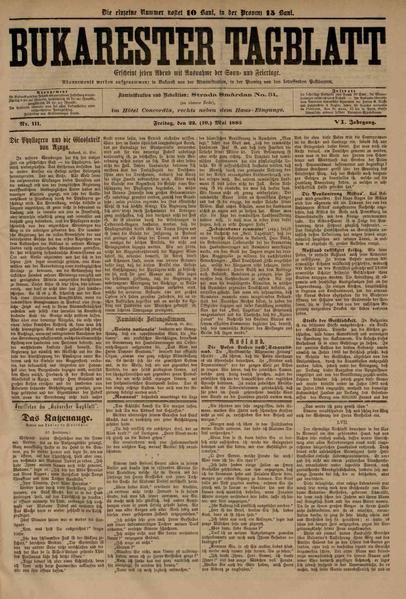 File:Bukarester Tagblatt 1885-05-22, nr. 111.pdf
