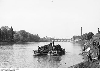Battle of Maastricht - Germans crossing the Meuse, 10 May 1940