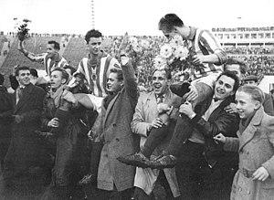1959 DDR-Oberliga - Image: Bundesarchiv Bild 183 69194 0004, Neuer deutscher Fußballmeister, SC Wismut