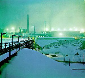 Kellogg, Idaho - Bunker Hill smelter in operation during the 1970s