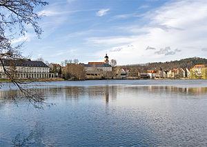 Der Burgsee und die Altstadt von Bad Salzungen