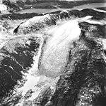 Burroughs Glacier, mountain glacier terminus, August 25, 1988 (GLACIERS 5272).jpg