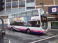 Bus outside Leeds railway station - DSC07509.JPG
