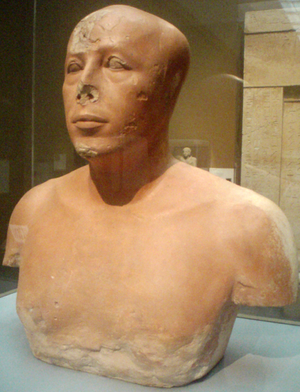 Ankhhaf (sculpture) - Image: Bust Of Prince Ankhhaf Partial Profile 2 Museum Of Fine Arts Boston