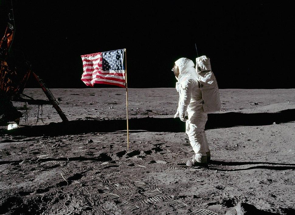 Buzz salutes the U.S. Flag-crop