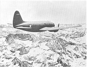 United States Air Force Pararescue - Curtiss C-46 'Commando' over the Himalayas