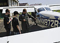 CAP cadets in Japan study a Cessna 172.JPG