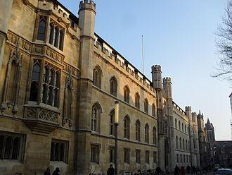 Corpus Christi College, Cambridge - The New Court seen from Trumpington Street.
