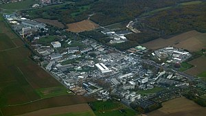 CERN - CERN's main site, from Switzerland looking towards France